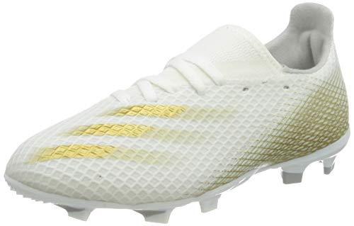 adidas X GHOSTED.3 FG J, Zapatillas de fútbol Unisex niños, FTWBLA/OROMEZ/Gridos, 33.5 EU