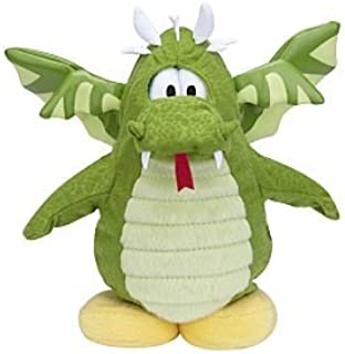 Rare Disney Club Penguin Green Flying Dragon Plush Without Coin