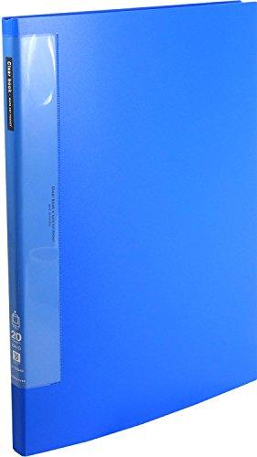 コクヨ ファイル クリヤーブック ウェーブカットB4 20ポケット 青 ラ-T564B ラ-T564B