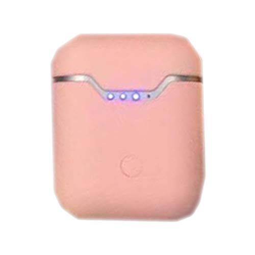 Auriculares Inalámbricos Bluetooth 5.1, TWS Deportivos Auriculares con Micrófono IPX7 Sonido Estéreo LCD Estuche de Carga Control Táctil Deportivo Q9L Rosa
