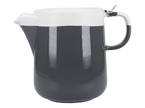 La Cafetière Barcelona C000431 Théière en céramique Gris/blanc, Céramique, gris, 4-Cup Teapot (950 ml)