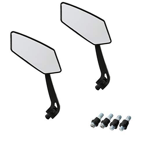 Rückspiegel, OSAN 2x [8mm/10mm] Universal Acryl/ABS Kunststoff Motorrad Spiegel Fit Sport Choppers Cruiser, schwarz