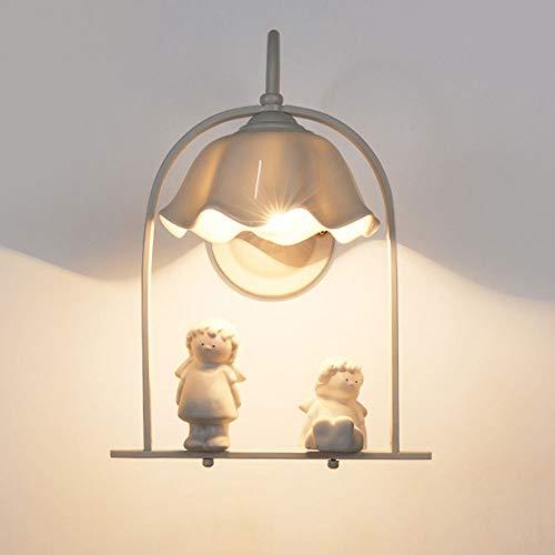 ZYJ wandlamp persoonlijkheid hal slaapkamer bijzettafel woonkamer badkamer hotel retro engel modern minimalistisch TV wandlamp wandlamp