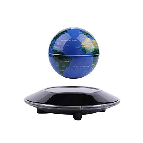 "Floating Globe 6"" Magnetic Levitation Floating Globe Anti Gravity Rotating World Map LED Blue Globe for Children Educational Gift Home Office Desk Decoration (A)"