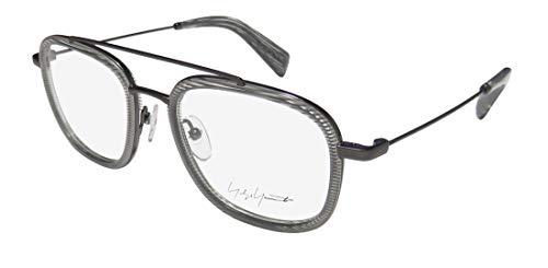 Yohji Yamamoto 1026-950 Unisex Grey Line Acetate Frame Eyeglasses