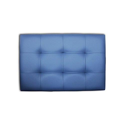 Ventadecolchones - Cabecero de Cama Tapizado Acolchado de Dormitorio en Polipiel con capitoné Modelo Tablet Azul Marino y Medidas 106 x 70 cm para Camas de 90 ó 105