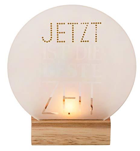 Unbekannt Glaspoesie Teelicht \'Jetzt ist die Beste Zeit\' - Räder Design