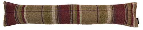 McAlister Textiles Heritage | Zugluftstopper mit Füllung im Tartan-Muster kariert 18cm x 90cm in Maulbeere | Deko Windstopper für Fenster, Türen im Schottenkaro, Tweed