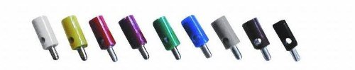 VS-ELECTRONIC - 331013 Querlochstecker, 2,6 mm Länge, Schwarz 61/7 schwarz