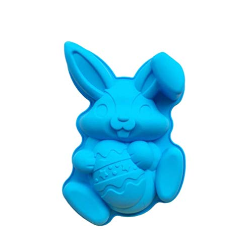 Easter Bunny Rabbit Egg Mold Large Size Silicone Mold Fondant Cake Chocolate Mould Baking Tool for Home Bakery Easter Decorations