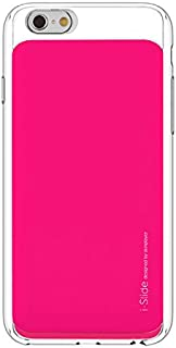 "Apple Iphone 6s / 6 4.7"" I-slide Ultra Slim Card Case 2 Card Slots Pocket Wallet by Skinplayer (Clear / Hotpink)"