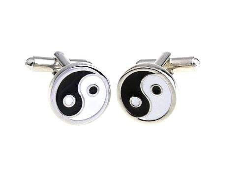Bouton de manchette yin et yang