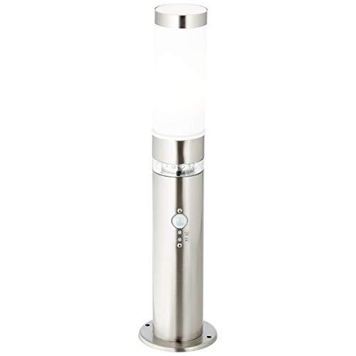 Außensockelleuchte mit Bewegungsmelder, 1x E27 max. 60W, Metall/Kunststoff, edelstahl