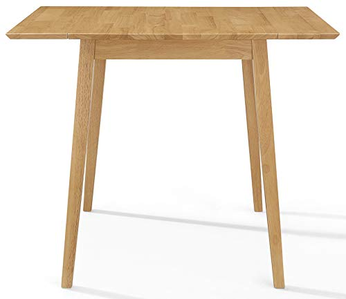 Ledbury Small Wooden Kitchen Drop Leaf Dining Table in Light Oak Finish | 100% Solid Wood Diner Table