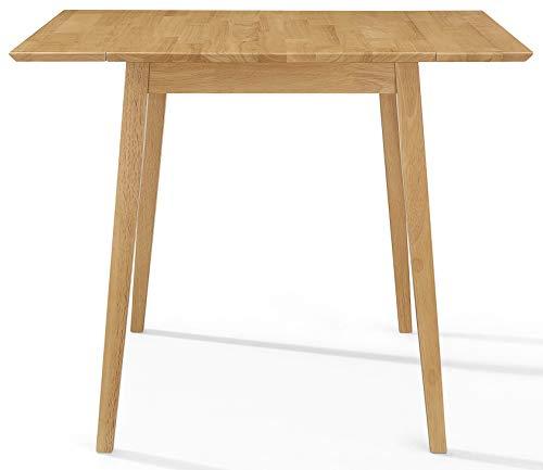 Hallowood Ledbury Kleiner Holz Eiche | Esstisch aus 100% Massivholz, Kautschukholz, Helles Eichenholz-Finish, LEB-TAB970-L