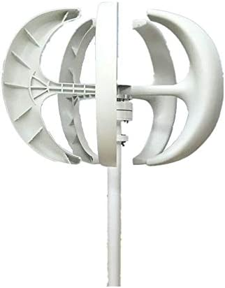 DNYSYSJ Wind Turbine Generators 5 Blades White Lantern Vertical Axis Wind Turbine with Controller product image
