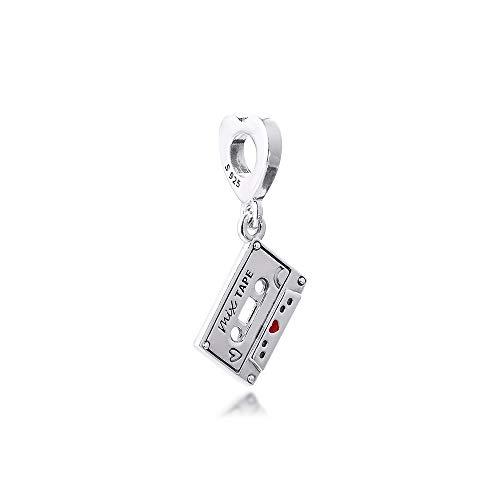 LILANG Pandora 925 Pulsera de joyería Natural se Adapta a los dijes Colgantes de Cassette Vintage Cuentas de Plata esterlina Originales para Hacer Adecuado para Mujeres Regalo de Bricolaje