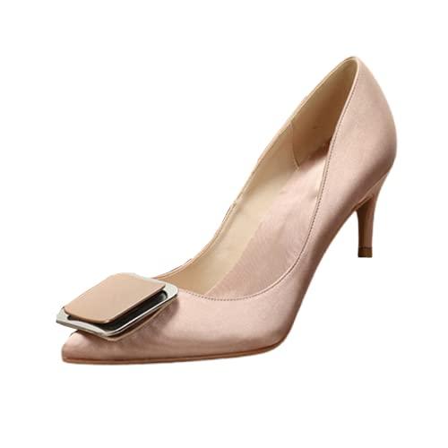 Zapatos de tacón para mujer, con hebilla de tacón alto, para novia,...