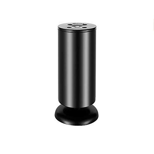 Poten van roestvrij staal met beweegbare bijzettafel voor televisie, voetensteun, verstelbare voetensteun ter verhoging van de steunpoten. 6cm*30cm-black