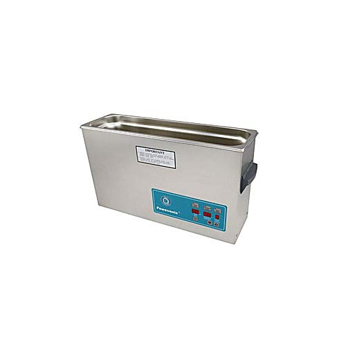 Crest Ultrasonics 1200PD132-2 Model P1200 Table Top Cleaner with Power Control, Digital Timer/Heat, 2.5 gal Volume, 132 kHz/230 V