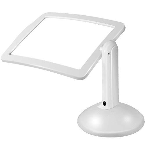 RHSMSS Lupa de Lectura de Escritorio con 2 Luces LED, Lupa portátil 3X con iluminación, Adecuado para Leer periódicos, Trabajar y estudiar.