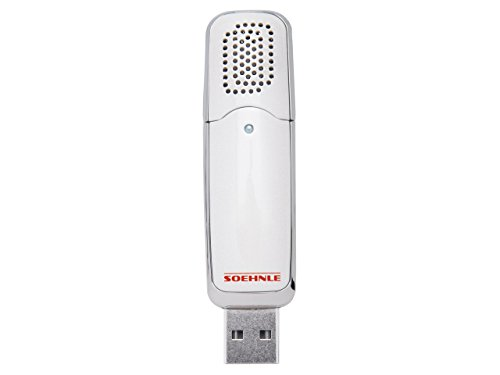 Soehnle mobiler Aroma Diffuser, Lufterfrischer mit USB Anschluss für den Arbeitsplatz oder im Auto, Raumbeduftung, dezente und knotinuierliche Duftverteilung, weiß
