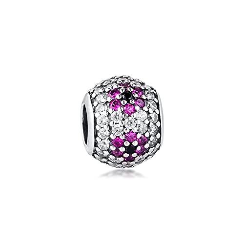 CharmKeyring de la joyería de la plata de Pandora 925 para los granos de la banda de la flor de cerezo de la pulsera