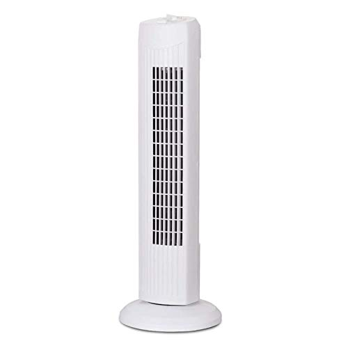 HZWZ Oscillating Tower Fan, Portable Electric Stand Up Fan with 3 Wind Speed, Quiet Cooling Fan for Indoor Living Room, Bedroom, Office