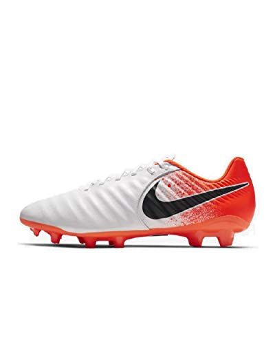 Nike Legend 7 Academy Fg, Unisex Adult's Futsal Shoes, Multicolour (White/Black/Hyper Crimson 000), 8.5 UK (43 EU)