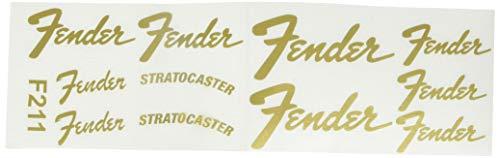 Ecoshirt QZ-K6NX-RON6 Pegatinas Stratocaster Guitarra F211 Stickers Aufkleber Decals Adesivi Music Guitar, Gold