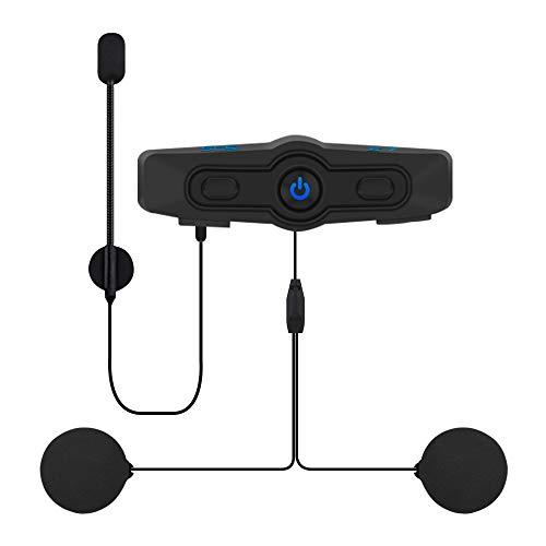 Helmet Bluetooth Headset Motorcycle Intercom- SCSETC S-7 Helmet Intercom Motorcycle Communication System Wireless Headphone with Handsfree Calls and Voice Command for Motorbike Skiing
