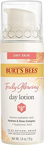 Burt s Bees Truly Glowing Day Lotion Face Cream with Hydrate and Glow Complex for Dry Skin 1 product image