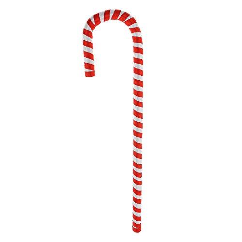 Baoblaze Zuckerstange Candy Canes Lollie Weihnachten gestreift - rote weiße, 40cm