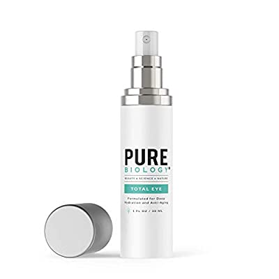 Premium Total Eye Cream Serum with Vitamin C + E, Hyaluronic Acid & Anti Aging Complexes to Reduce Dark Circles, Puffiness, Under Eye Bags, Wrinkles & Fine Lines for Men & Women (1 oz)