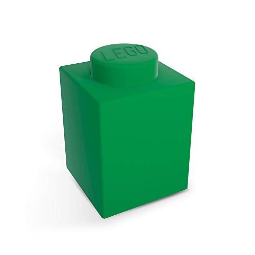 LEGO Classic 1x1 Brick Silicone NiteLite Lampe Nachttischlampe Nachtlicht 8x8x11 (Grün)