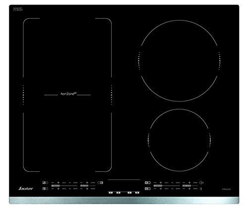 Sauter SPI4664X - Plaque à induction - Encastrable - 4 Foyers - Horizone - 7200W - L60 x P52cm - Revêtement verre - Inox - Fabrication Française