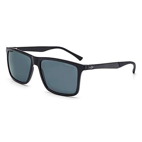 Óculos sol mormaii kona plus preto brilho lente cinza polarizada