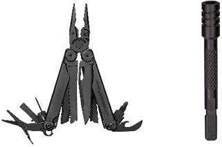 Leatherman Bit Driver Extender Black Oxide+Leatherman Wave Plus Black Multi-Tool with Molle Sheath Bundle