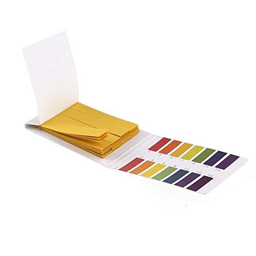 Wusfeng LHongBin- pH-Testpapier 80 stücke professionell 1-14 pH Litmus Papier ph Test Streifen Test Papier Wasser bodenstaub säurer Meter pH-Steuerung, Genau und schnell zu bedienen (Color