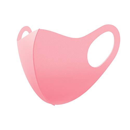 Skxinn 6Pcs Waschbar Atmungsaktiver Staub Winddicht Anti Haze Tröpfchen Mundschutz Gesichtsschutz Grau weiß Rosa Schwarz