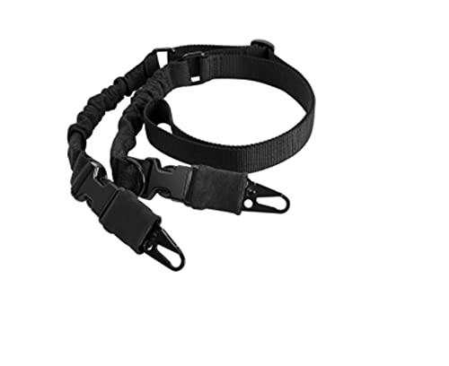TYEHH 戦術ガンスリングショルダーストラップ屋外2点ライフルスリングストラップベルト M-LOK QDスリングスイベルハンティングガンアクセサリー (Color : Gun belt with swivel)