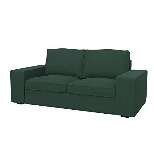 Soferia Funda de Repuesto para IKEA KIVIK sofá de 2 plazas, Tela Elegance Mineral, Verde