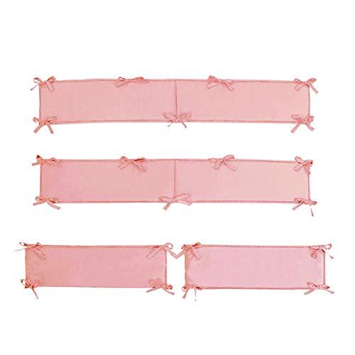 HilMe 4 Stück/Set Home Dicker Liner Protector für Kinderbetten, Schutzpolster, maschinenwaschbar, abnehmbar, für Jungen und Mädchen