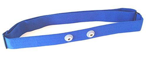 Sangle de poitrine Soft Strap Bleu – Blue de rechange pour Garmin modèles Premium Sangle de poitrine de fréquence cardiaque, HRM Run Convient, M/XXL