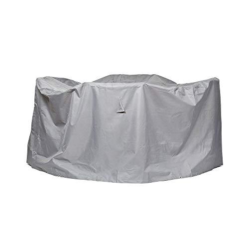 Gartenmöbel Schutzhülle / Abdeckung rund - Premium L (Ø 200 x 94 cm) wasserdichte Abdeckplane für Sitzgruppe / Oxford 600D Polyestergewebe / mit Ventilationsöffnungen / Rund