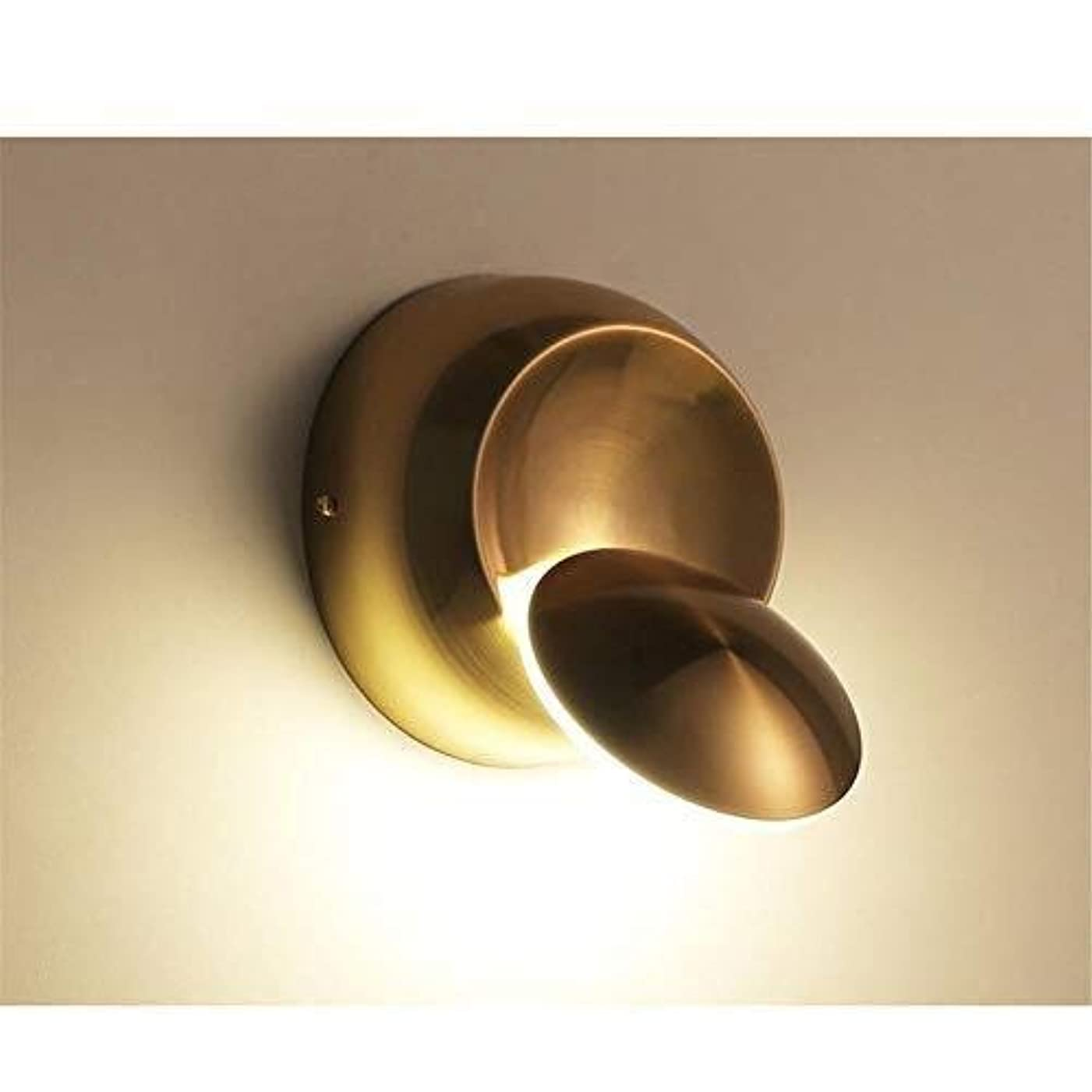 画家欠如小道CattleBie LEDウォールランプ360度回転鍛造アイアン壁ランプ、ベッドサイドランプゴールドシンプルリア現代のクリエイティブ回し階段研究レストランリビングルーム (Color : Multi-colored)
