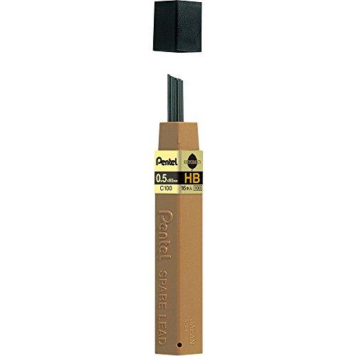 ぺんてる シャープペンシル替芯 ハイポリマー芯 0.5mm HB C100-HBD