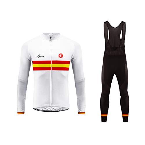 Uglyfrog Radtrikots für Herren, Winter Radsportbekleidung Langarm Bike Wear Promotion und Lange Hosen Set