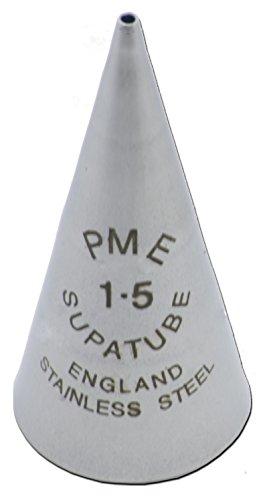 PME ST1.5 Bocchetta Decorativa Professionale, Acciaio Inossidabile, Argento