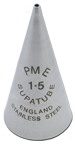 PME Seamless Stainless Steel SupaTube Writer #1.5 Decorating Tip, Standard, Silver